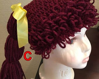 Cabbage Patch hat,size 1-3 years old,for adults,teens,child's,good for party's,Halloween hat,photo prop,Color Choice,Cabbage Patch wig, gift
