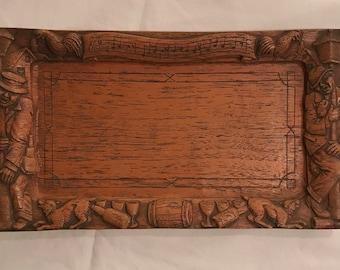 Vintage Bar Tray Composite wood
