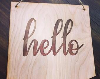 Hello/ Love Hanging Plaques