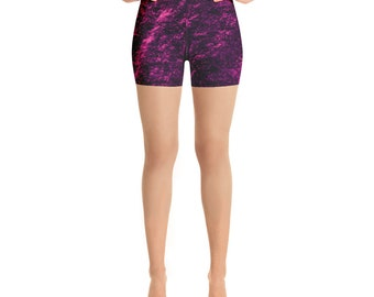 Electric Purple Yoga Shorts