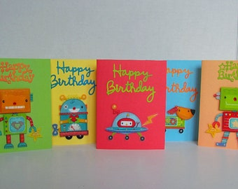 Birthday card kid etsy outer space birthday card set handmade birthday card set birthday card assortment happy bookmarktalkfo Gallery
