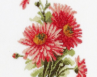 """Cross stitch pattern flower """"Asters"""" Instant download in PDF"""