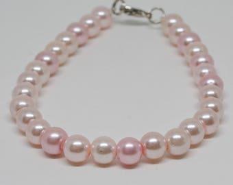 Lovely Faux Pink Pearl  Bracelet
