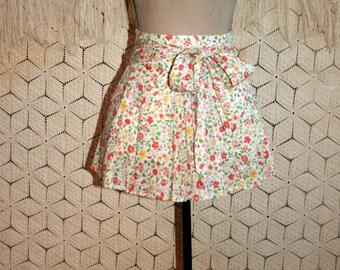 Mini Skirt Cotton Skirt Floral Skirt Flared Skater Skirt XS Small Teen Clothing American Eagle Petite Clothing Spring Summer Womens Clothing