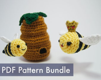 Bumble Bee Crocheted Amigurumi PDF Pattern Bundle