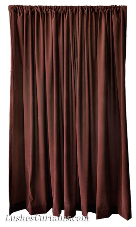 modern brown flocked velvet 96 inch high curtain long panels. Black Bedroom Furniture Sets. Home Design Ideas