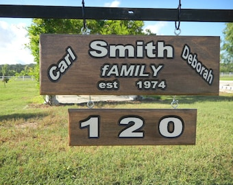 Wood Hand Carved Signs, Custom Designed, Anniversary, Business, Street, Address, Yard, Directional, Private, Comical, Humorous Signs
