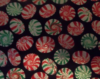 Christmas Peppermint Candies Cotton Fabric # 194