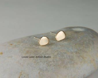 Gold Nugget Earrings Rustic Earrings Gold Organic Earrings Gold Stud Earrings Gold Nugget Jewelry Organic