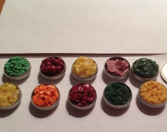 Wow So Realistic Miniature Handmade Vegetables   in metal pans 10 total