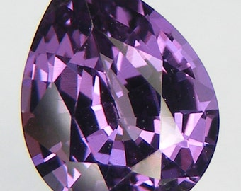 Excellent Cut Loose Alexandrite Pear Cut 9 x 7 mm. Color Change Alexandrite Simulated Lab Created  Loose Gemstones