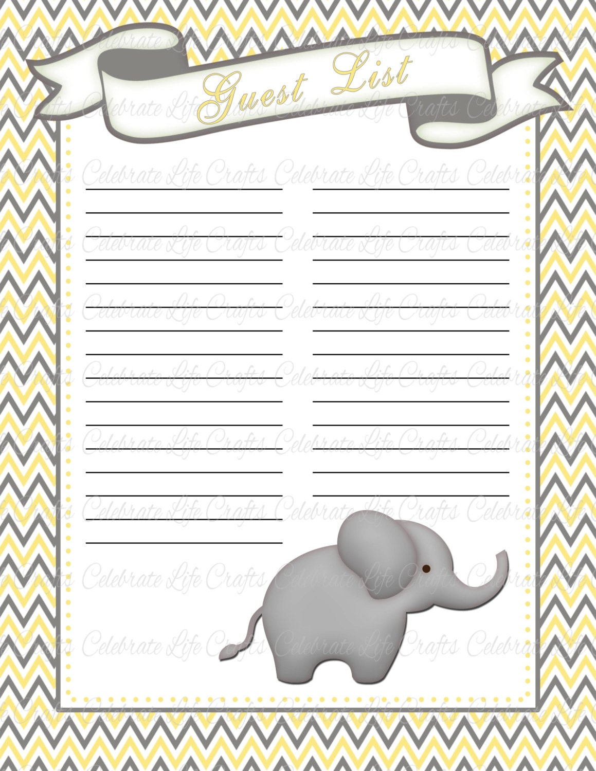 Free Printable Baby Shower Guest List Entrancing Baby Shower Guest List Printable Baby Shower Party