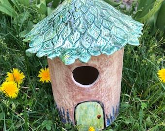 Bird house porcelain like fairy house Mother's day gift