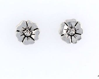 Sterling Silver Flower Choice - Charm, Post, Dangle Earrings