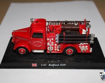 1/43 BEDFORD - Fire Engine Truck City of Liverpool 1939 Vigili Del Fuoco