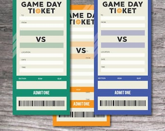 Printable Set of PDF Surprise Basketball Vertical Tickets