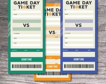 Printable Set of PDF Surprise Basketball Vertical Tickets