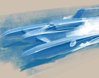 Donald Campbell - Bluebird K7 Print