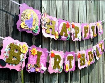Best Day Ever Banner, princess banner, Tangled inspired banner, Rapunzel banner