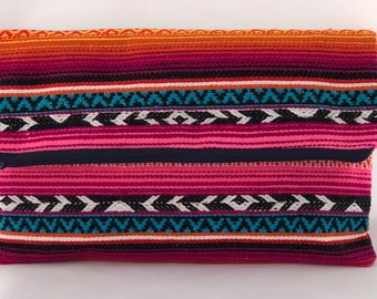 Mexican boho purse clutch / Mexican clutch /Aztec boho clutch / Bohemian clutch / Boho chic purse / Hippie clutch