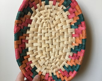 Colorful Small Vintage Coil Basket
