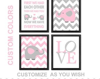 elephant nursery, elephant baby girl, elephant baby nursery, elephant baby shower girl, elephant girls decor, baby girl room, baby girl gift