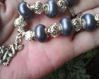 Only one shade of gray, Euro style bracelet