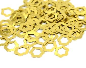 50 Pcs. Raw Brass 12x15 mm Brass Charms Findings