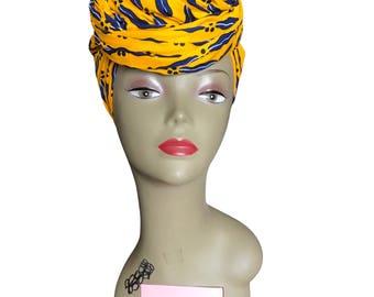 African Head Wrap, Kente Fabric Head Wrap, Ankara Head Scarf, SIZE 70 by 22 Big, Dashiki head wraps