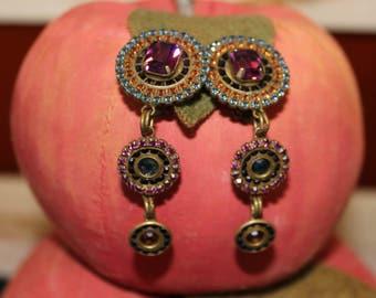 Vintage Sorrelli Drop Clip Earrings