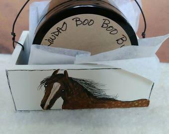 Handmade boo boo butta ,in a Handpainted box