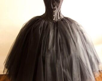 Women's Evening Tulle Skirt, Corset & Petticoat