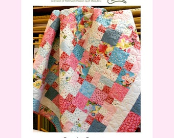 "QUILT PATTERN ""Candy Corners"" Little Louise Designs Pieced Project Fat Quarter Layer Cake Friendly Quilt Template Crib Lap Twin Queen King"