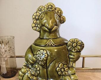 large ceramic turtle cookie jar / california originals pottery
