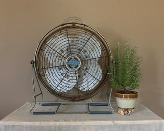 Working Industrial Fan / Vintage Electric Fan / Vintage Desk Fan / Electric Fan / Industrial Modern Fan / Metal Fan / Windmaker Fan
