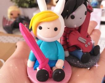 Adventure time figurine - Fionna, Finn, Princess Bubblegum, Marshall Lee, Ice King, Flame Princess