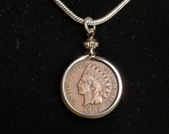 Indian Head Penny Coin Necklace
