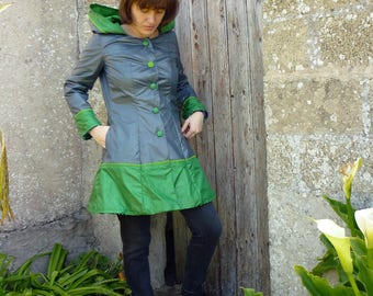 Waterproof women dark grey and green