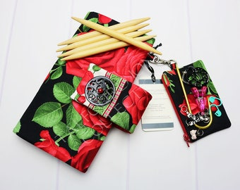DPN Storage - Double Point Needles - Floral Needle Case - Knitting Needle Case - Sock Knitting - Needle Organizer - Knitting Supply