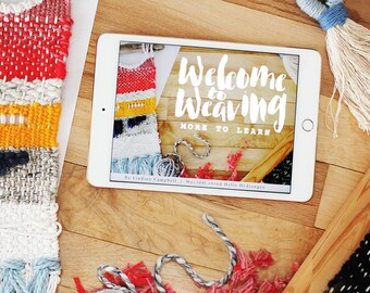 Intermediate Weaving Class | Online Video Ebook Course, Learn to Weave | Welcome to Weaving by Hello Hydrangea | Instant Digital Download