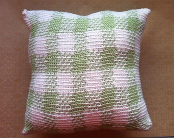 Green Plaid/Gingham Pillow