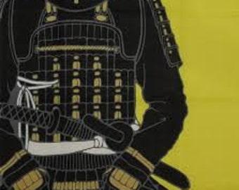 Tenugui Japanese Fabric 'Samurai Armor by moonlight' w/Free Insured Shipping