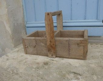Vintage wooden toolbox