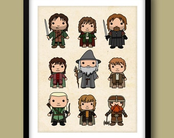 Lord of the Rings inspired wall art, Lord of the Rings, Frodo Baggins, The Hobbit, Tolkien, The Fellowship Of The Ring, Gandalf, Geek Art