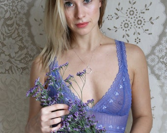 Bralette, bra, lace bra, sheer bra, lace bralette, sheer bralette, see through bra, lace underwear, girlfriend gift, sheer lingerie, blue