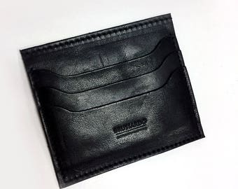 Credit Card Holder - Black Genuine Leather