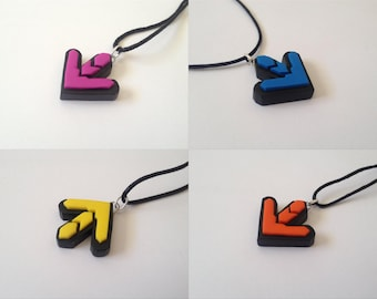 Dance Dance Revolution (DDR) Arrow Necklaces - SELECT STYLE