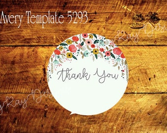 Thank You Labels *Instant Download*