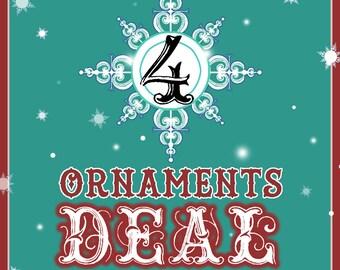 XMAS 4 Ornaments Combo Deal !!