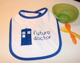 Doctor Who Baby Bib, Tardis Future Doctor Bib, Dr Who Baby Bib, Tardis Bib